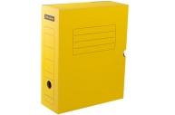 Короб архивный с клапаном 100мм, желтый микрогофрокартон, до 900л. OfficeSpace,