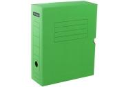 Короб архивный с клапаном 100мм, зеленый микрогофрокартон, до 900л. OfficeSpace,