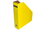 Лоток вертик гофро 75 мм А4  желтый 700 листов