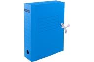 Папка архивная с завязками OfficeSpace, микрогофрокартон,  75мм, синий, до 700л.