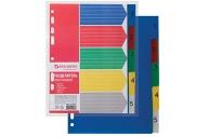 Разделитель пластиковый А5, 5 листов, цифровой 1-5, оглавл., (210x162мм), BRAUBERG, 225628