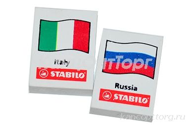 """Резинка стирательная STABILO """"Флаги"""", ассорти, в дисплее, 1188/48А"""