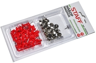 Набор силовые кнопки-гвоздики красные/50шт, кнопки канцелярские серебристые/50шт, STAFF блистер, СП