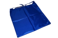 Сумка для обуви ТОП-СПИН для учеников начальной школы, 1 шнур с пластиковым фиксатором, синяя, 43х35