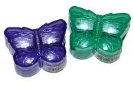 Точилка ПИФАГОР с контейнером, пластиковая, БАБОЧКА, цвет корпуса ассорти, 226935