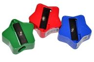 Точилка ПИФАГОР, пластиковая, ЗВЕЗДОЧКА, цвет корпуса ассорти, 226936