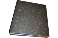 Папка-регистратор 70 мм, STAFF мрамор, с уголком, черный корешок, 227187