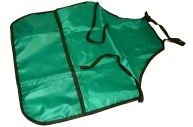 Фартук для труда и занятий творчеством ПИФАГОР с карманом, зеленый, 44х55см,