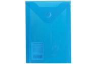 Папка-конверт с кнопкой МАЛОГО ФОРМАТА (105х148 мм), А6, синяя, 0, 18 мм, BRAUBERG, 227317