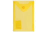 Папка-конверт с кнопкой МАЛОГО ФОРМАТА (105х148 мм), А6, желтая, 0, 18 мм, BRAUBERG, 227319