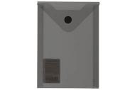 Папка-конверт с кнопкой МАЛОГО ФОРМАТА (105х148 мм), А6, тониров. черная, 0, 18 мм, BRAUBERG, 227322