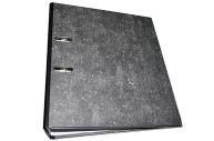 Папка-регистратор ГВАРДИЯ, усиленный корешок, мраморное покрытие, 80 мм, с уголком, черная, 227527