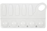 Палитра для рисования ПИФАГОР белая, пластиковая, прямоугольная, 10 ячеек, 227809
