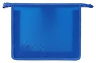 Папка для тетрадей А5 ПИФАГОР, пластик, молния сверху, один тон, синяя, 228223