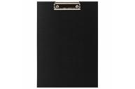 Доска-планшет STAFF с прижимом А4 (225х316 мм), картон/бумвинил, РОССИЯ, черная, 229051