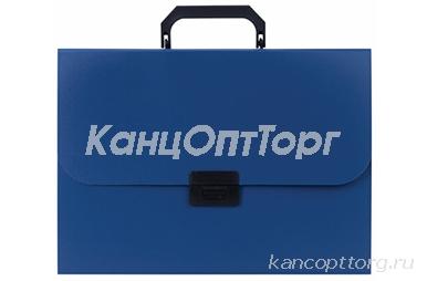 Портфель пластиковый STAFF А4 (330х235х36 мм), 7 отделений, индексные ярлыки, синий, 229242