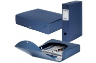 Короб архивный пластик BRAUBERG Energy, 7см (на 600л) разборный, синий, 231539