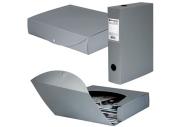 Короб архивный пластик BRAUBERG Energy, 7см (на 600л) разборный, серый, 231540