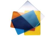 Обложка-карман для проездных документов, карт, пропусков, 98х65 мм, ПВХ, прозрачная, ассорти, ДПС, 1164. 250. Ф