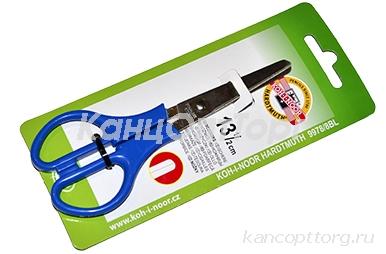 Ножницы KOH-I-NOOR, 135 мм, классической формы, цвет ручек красный, картонная упаковка с подвесом, 9978001008BL