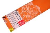 Бумага крепированная Werola, 50*250см, 32г/м2, растяжение 55%, оранжевая, в индивидуальной упаковке