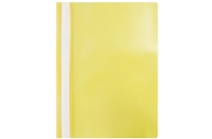 Папка-скоросшиватель пластик. OfficeSpace, А4, 120мкм, желтая с прозр. верхом