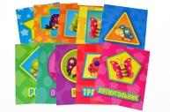"Набор карточек обучающих 10 шт ""Фигуры"" 93*71, арт. 2482"