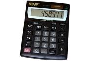 Калькулятор STAFF настольный STF-1808, 8 разрядов, двойное питание, 140х105мм