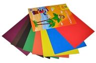 Картон цветной A4, Мульти-Пульти, 8л., 8цв., немелованный, в папке