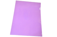 Папка-уголок А4, 100мкм, прозрачная фиолетовая OfficeSpace,