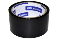Скотч 48мм*40м, 45мкм, черный, OfficeSpace, ШК
