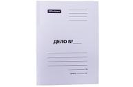 """Скоросшиватель картон немелованный, 300г/м2, OfficeSpace """"Дело"""", белый, пробитый, до 200л."""