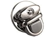 Застёжка для сумки, 2, 5 ? 2, 5 см, цвет серебряный