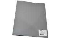 Папка 2 кольца 25мм серый пластик 500мкм А4 OfficeSpace