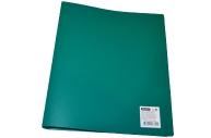 Папка 2 кольца 25мм зеленый пластик 500мкм А4 OfficeSpace