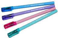 """Ручка шариковая 0,5 мм, синяя Starlight S"""" корпус ассорти пастель"""