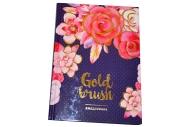 """Ежедневник недатированный, B6, 160л. 7БЦ OfficeSpace """"Цветы. Gold brush"""", тиснение фольгой"""