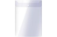 Папка-конверт на кнопке OfficeSpace А4, вертикальная, 150мкм, прозрачная