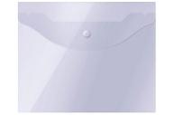 Папка-конверт на кнопке OfficeSpace А5 (190*240мм), 150мкм, прозрачная