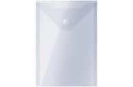 Папка-конверт с кнопкой А6 прозрачная OfficeSpace,  (105*148мм), 150мкм