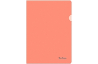 """Папка-уголок Berlingo """"Starlight"""", А4, 180мкм, прозрачная оранжевая, индив. ШК"""