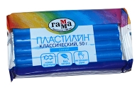 "Пластилин Гамма ""Классический"" синий, 50г"