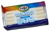 """Пластилин Гамма """"Классический"""" белый, 50г"""