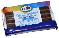 "Пластилин Гамма ""Классический"", коричневый, 50г"