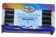 """Пластилин Гамма """"Классический"""" черный, 50г"""