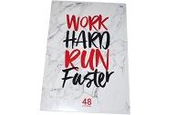 """Тетрадь А4 48клетка BG """"Work hard"""""""