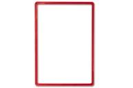 Рамка POS для ценников, рекламы и объявлений А4, красная, без защитного экрана, 290252