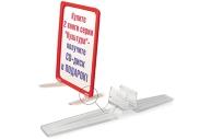 Держатель рамки POS настольный для верт. установки, прозрачный