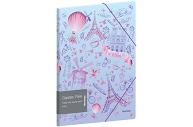 """Папка для тетрадей на резинке Berlingo """"Capitals. Paris"""" А5+, 600мкм, с рисунком"""