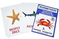 Обучающие карточки по методике Г. Домана «Морские обитатели», 10 карт, А6